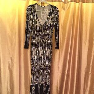 Venus (M) Geometric Mermaid Maxi Dress